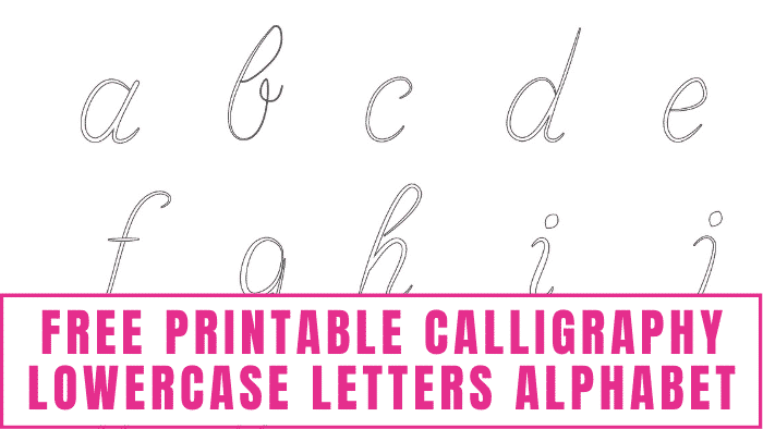 To completely master learning how to write calligraphy letters you can practice with this free printable calligraphy lowercase letters alphabet.