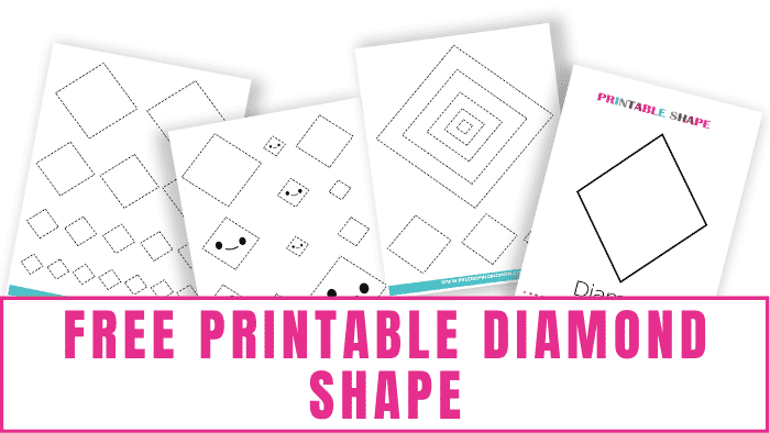 Use printable shapes worksheets to teach kids about 2D shapes like a diamond shape. This free printable diamond shape will help.