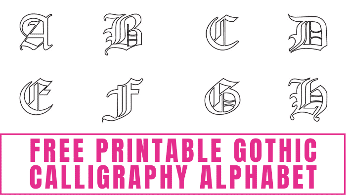 If you are looking for a unique form of printable letters, check out this free printable gothic calligraphy alphabet.