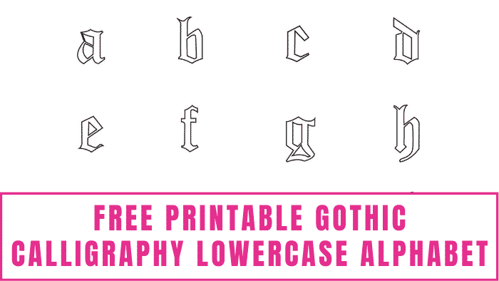 You can't master learning how to write gothic calligraphy unless you know how to write this free printable gothic calligraphy lowercase alphabet as well.
