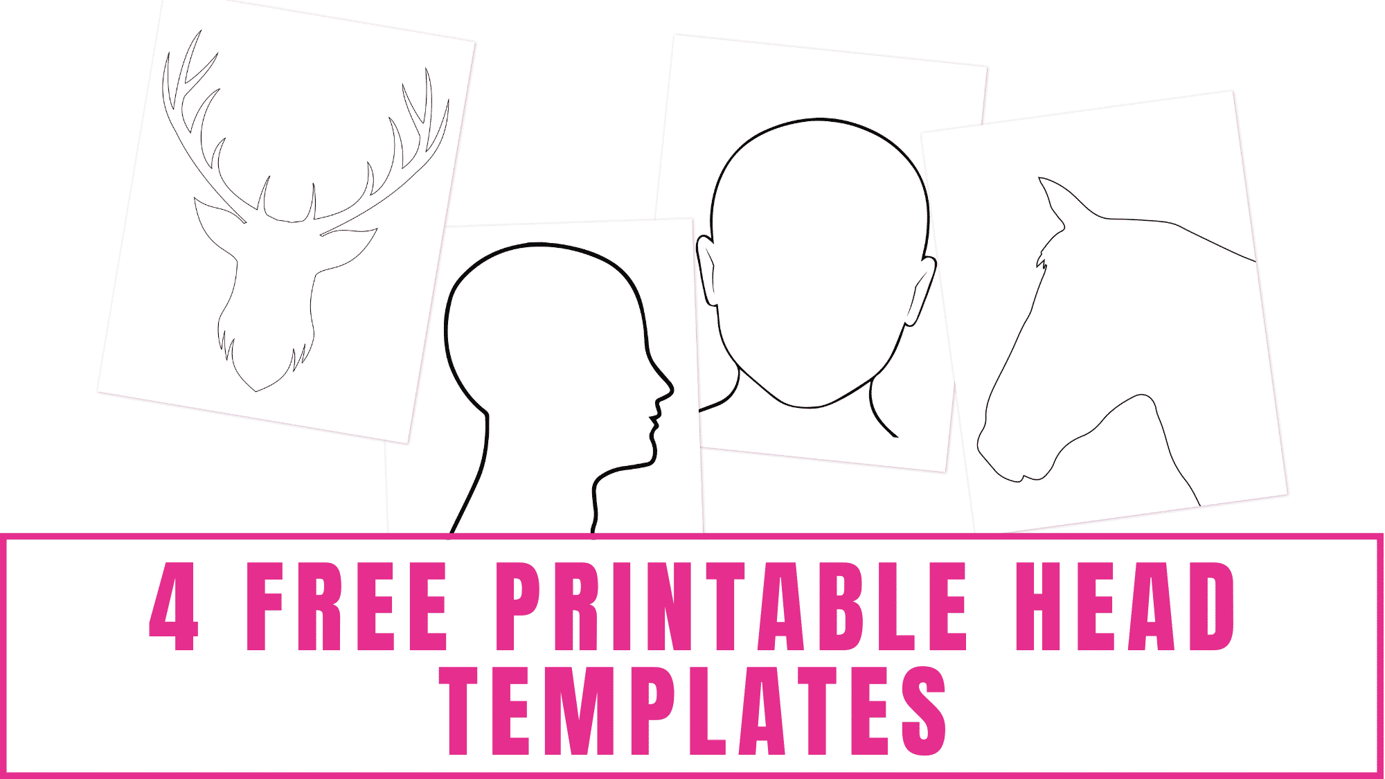 Do you or your kids like to draw? Use these free printable head templates to learn how to draw a human head, horse's head, and a deer's head.
