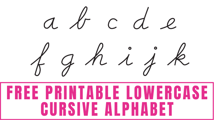 Do you want to learn how to write cursive letters? Download this free printable lowercase cursive alphabet and start tracing it until you establish muscle memory and can do it on your own.