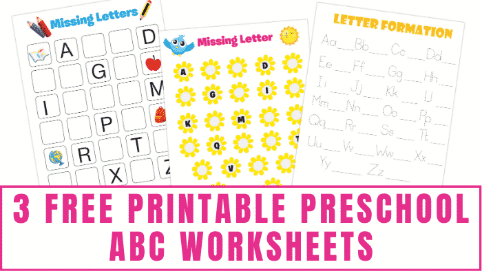 Have kids learning the alphabet and how to write letters? These free printable preschool ABC worksheets will come in handy.