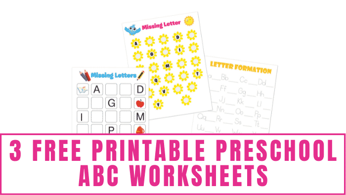 Is your kid learning how to write alphabet letters or recognize letters? These free printable preschool abc worksheets will help them with both.