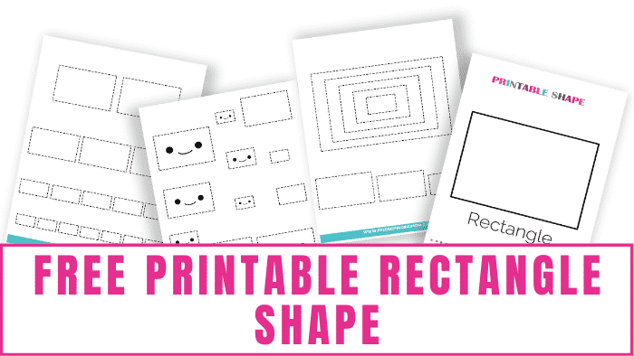 free printable rectangle shape