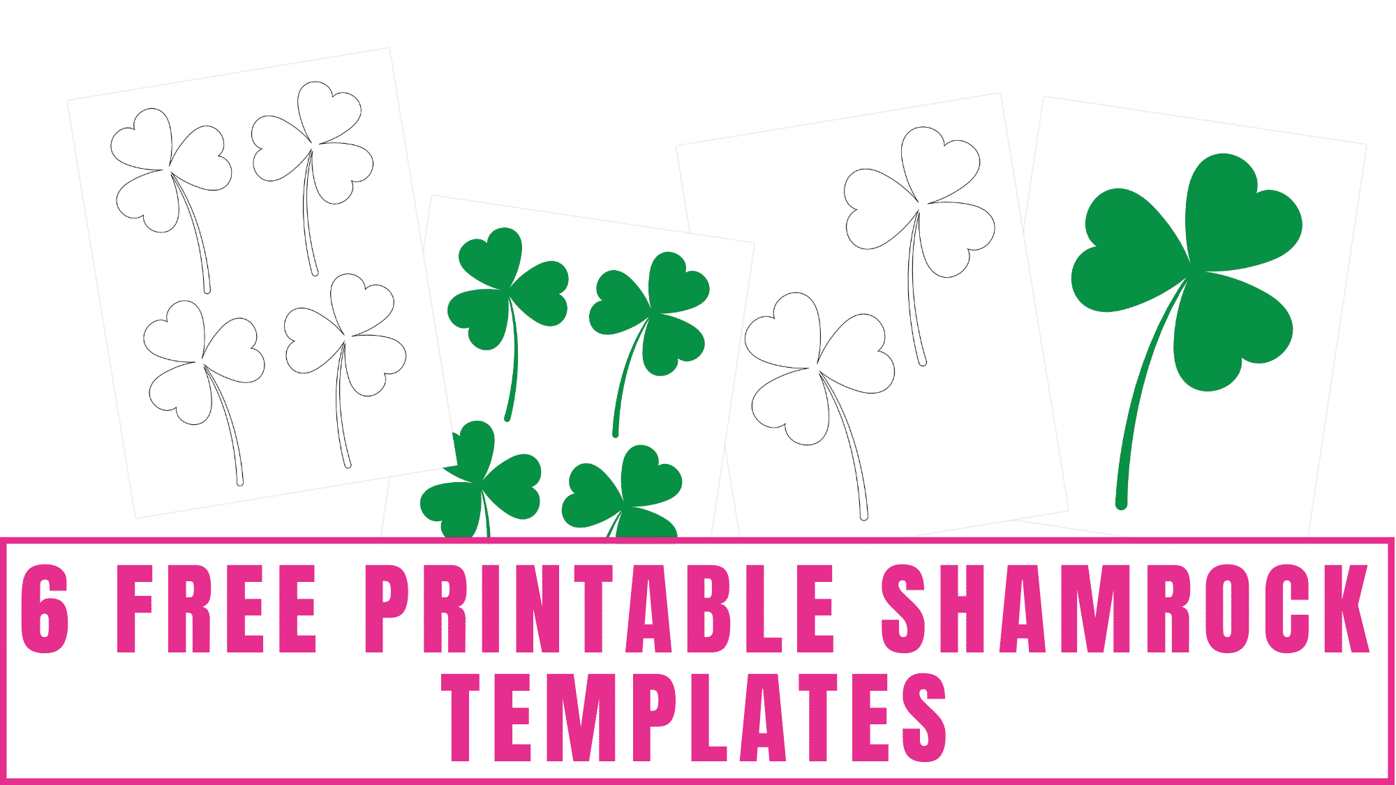 It doesn't have to be St. Patrick's Day to use these free printable shamrock templates. You can use these templates year round for crafts, drawing, and more!
