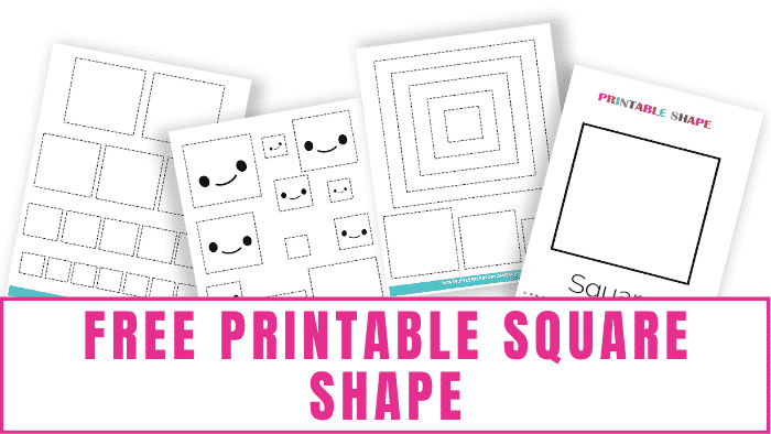 If you have a kid learning shapes then congrats because you hit the shapes jackpot! In addition to this free printable square shape you can download shapes charts, shapes coloring pages, shape tracing worksheets, and more!
