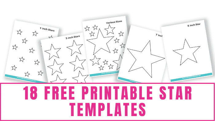 These free printable star templates can be used for school projects, scrapbooking, classroom decorations for teachers or homeschool moms, coloring pages, and more!