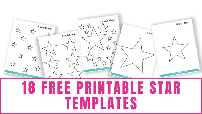 free printable star templates