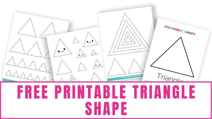 Did you know there are so many types of triangles? Isosceles, scalene, right, acute, and equilateral just to name a few. Here you learn about those and snag a free printable triangle shape.