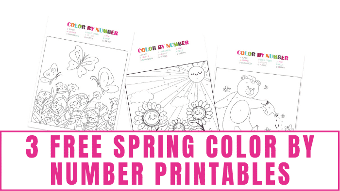 free spring color by number printables