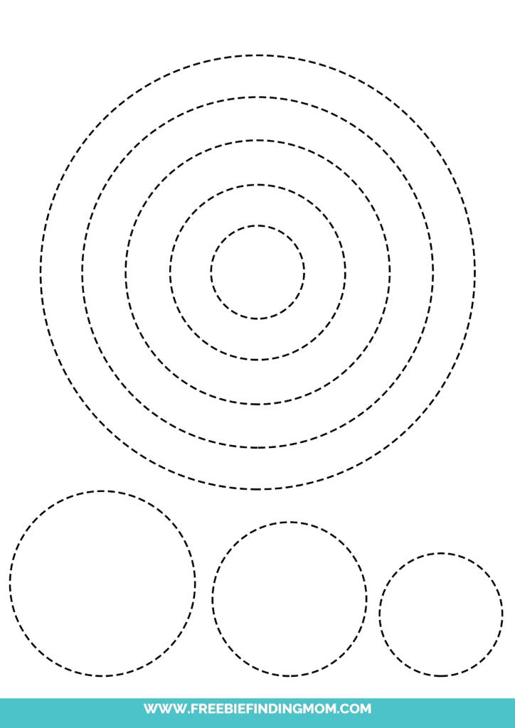 printable circle shape tracing worksheets