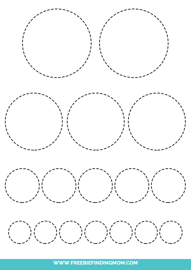 printable circle tracing worksheets