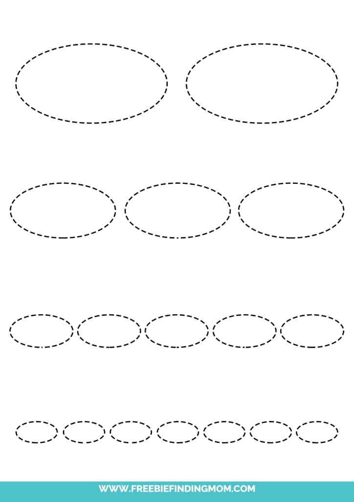 printable oval tracing worksheets