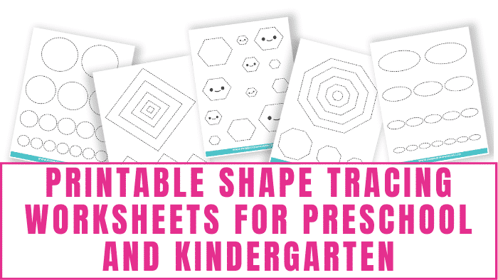 These printable shape tracing worksheets for preschool and kindergarten make learning how to draw shapes and identify shapes fun.