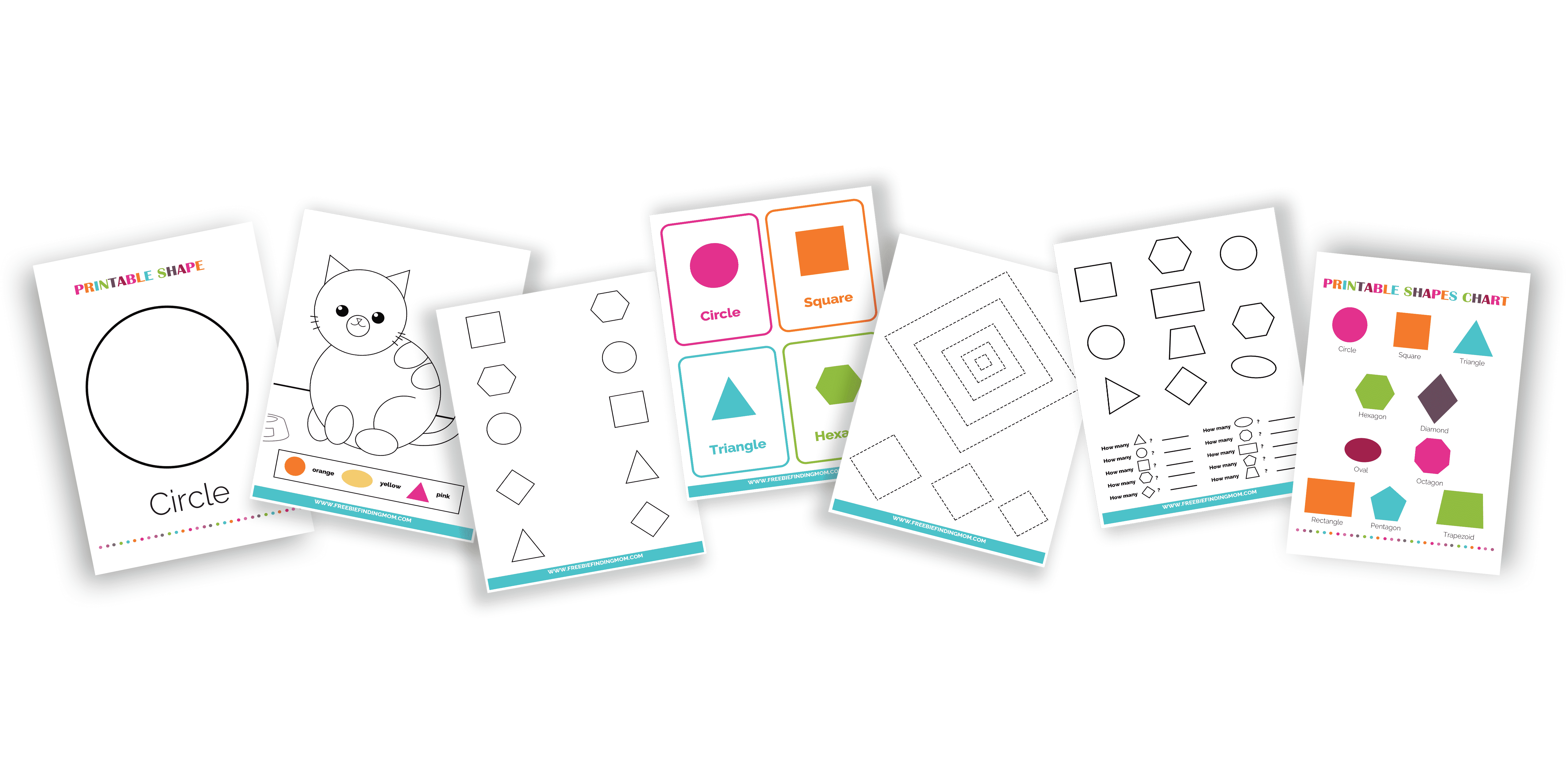 This 132-page printable shapes worksheets bundle is packed with shape tracing worksheets for preschool, shapes worksheets for kindergarten, shapes coloring pages, shapes flashcards, and more!