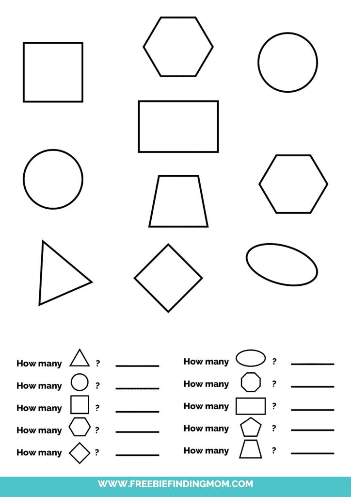printable shapes worksheets for kindergarten pdf