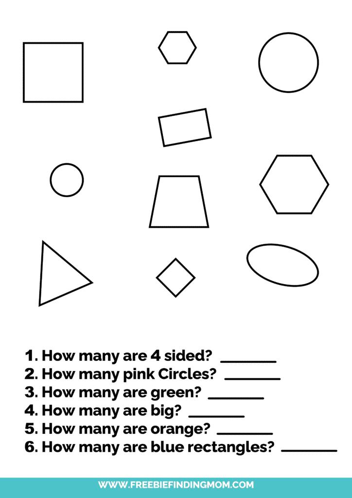 printable shapes worksheets for kindergarten pdf questions