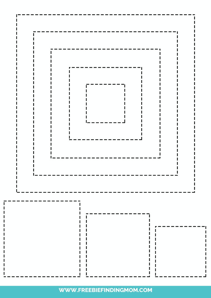 printable square shape tracing worksheets
