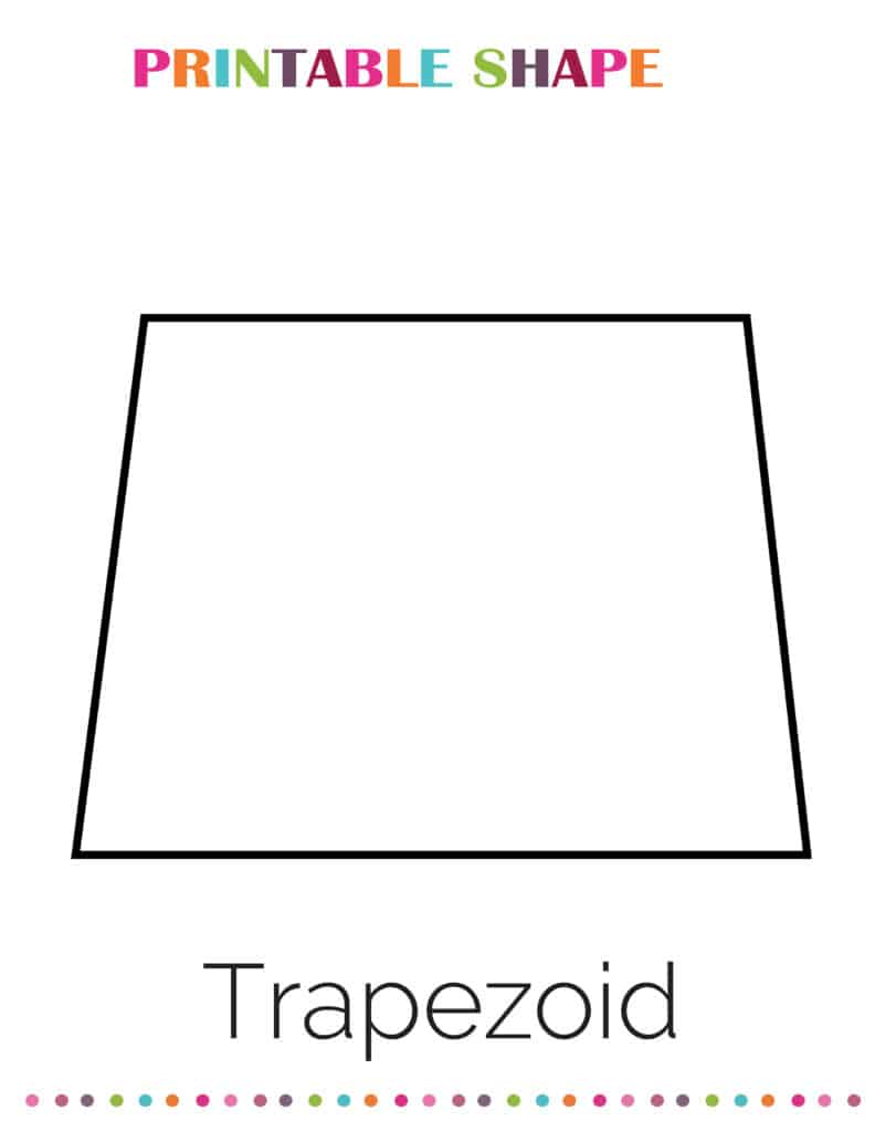 printable trapezoid shapes coloring pages pdf