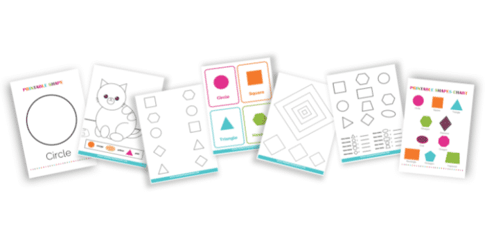 Need help teaching your kid about shapes? This bundle of printable shapes worksheets has everything you need to learn how to draw and recognize 2D shapes including circles.