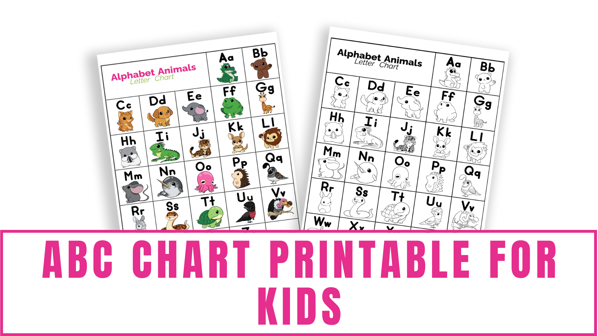 Do you have a kid learning the alphabet? Use this ABC chart printable for kids to help them with letter tracing, letter recognition, letter sounds, and to learn words that start with certain letters.