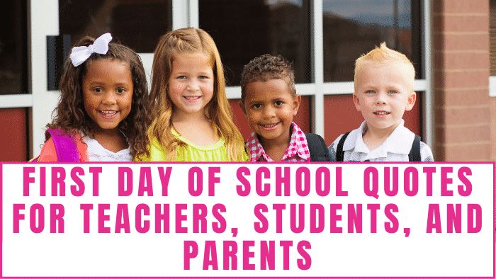 The first day of school can be stressful for everyone, but these first day of school quotes for teachers, students, and parents will help lighten your moods and may give you a good laugh too.