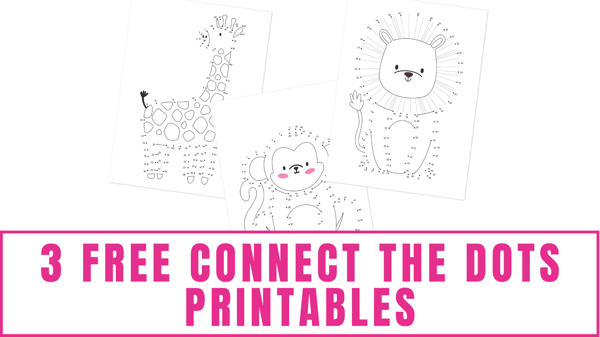 Do you have a kid learning how to count? Using free printable connect the dots worksheets like these free connect the dots printables is a great way to get them excited about learning.