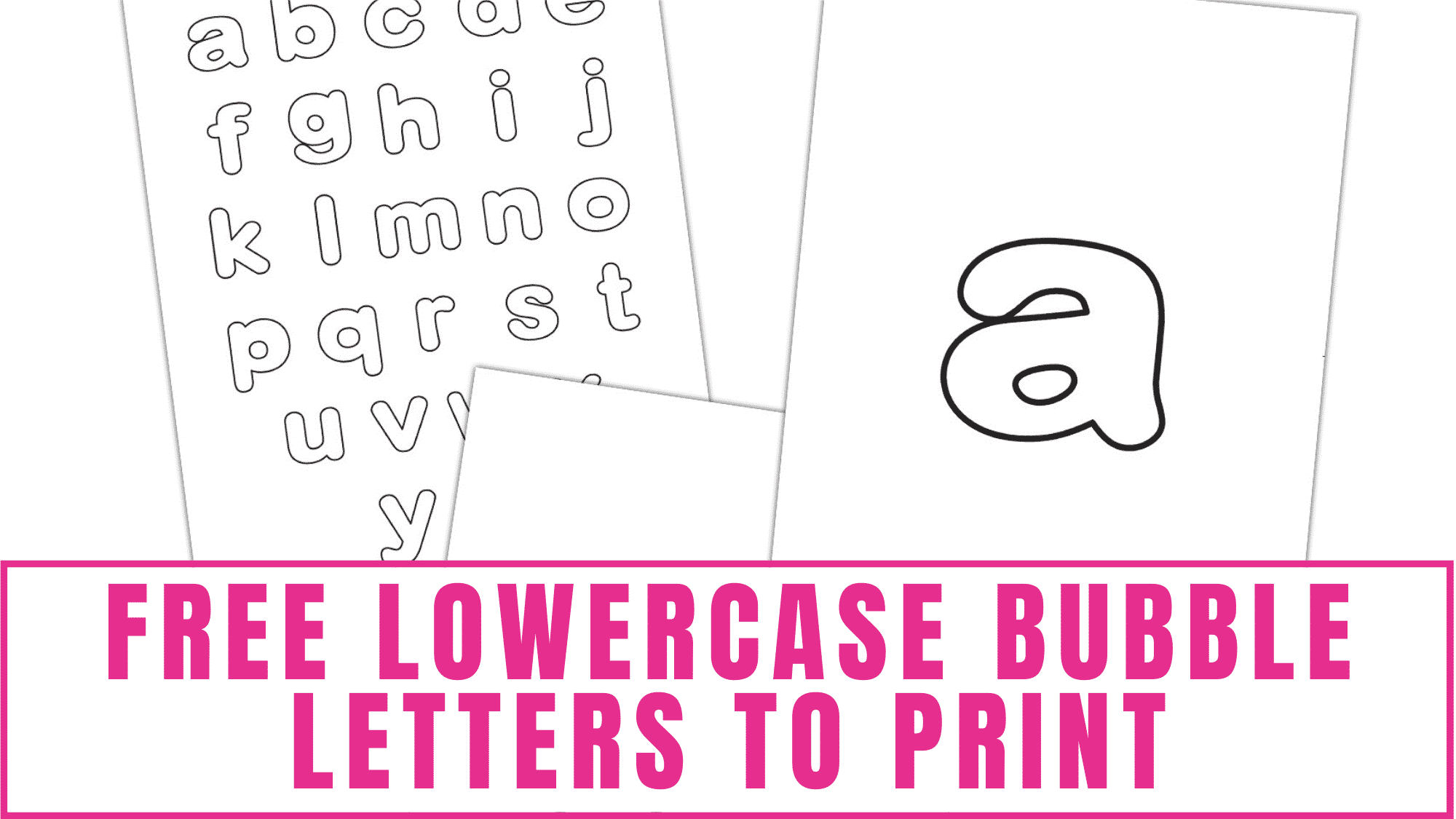 Turn these free lowercase bubble letters to print into fun coloring pages for kids or flashcards to help them learn the alphabet.
