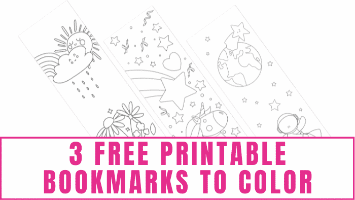 Whether your kid is a book lover or dreads reading, you can use these free printable bookmarks to color to inspire them to open up a new book.