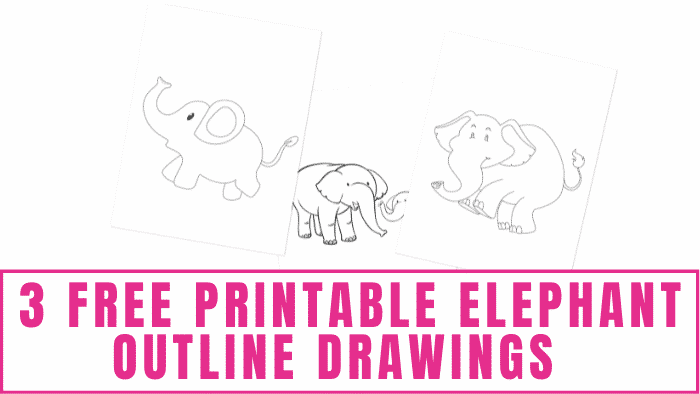 Do you want to learn how to draw animals? Start by practicing with easy templates like these free printable elephant outline drawings.
