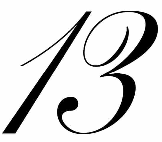 free printable fancy calligraphy numbers calligraphy number 13