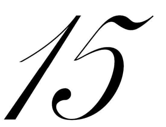 free printable fancy calligraphy numbers calligraphy number 15