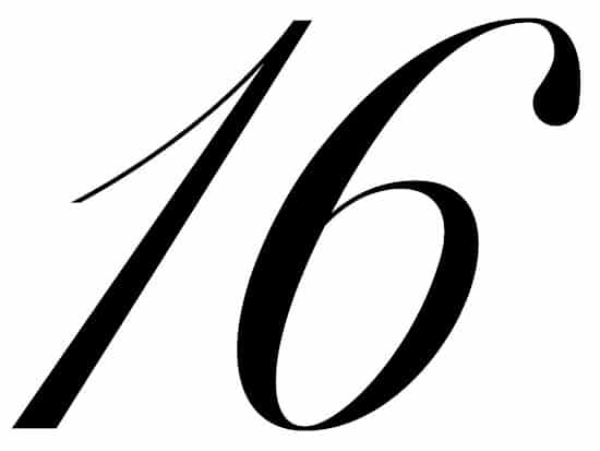 free printable fancy calligraphy numbers calligraphy number 16