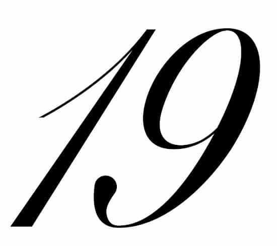 free printable fancy calligraphy numbers calligraphy number 19