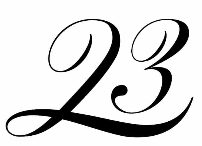 free printable fancy calligraphy numbers calligraphy number 23