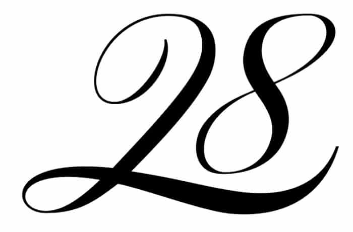 free printable fancy calligraphy numbers calligraphy number 28