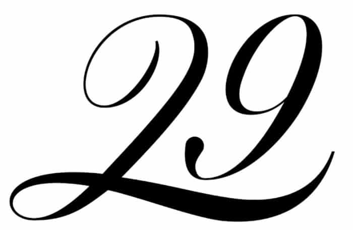 free printable fancy calligraphy numbers calligraphy number 29