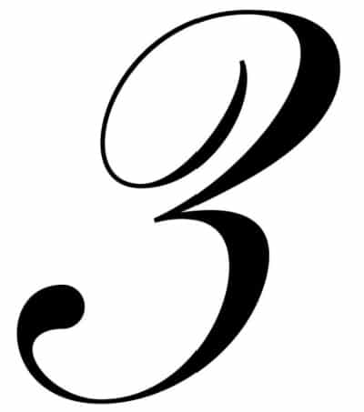 free printable fancy calligraphy numbers calligraphy number 3