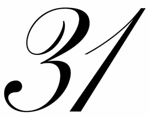 free printable fancy calligraphy numbers calligraphy number 31