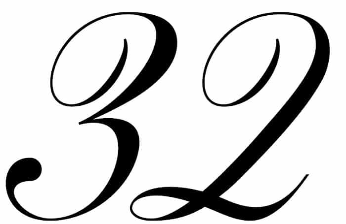 free printable fancy calligraphy numbers calligraphy number 32