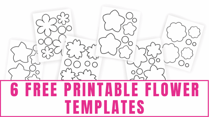 Want to make paper flowers? It couldn't be simpler with these free printable flower templates. These pretty flowers also make great flower coloring pages for adults and kids.