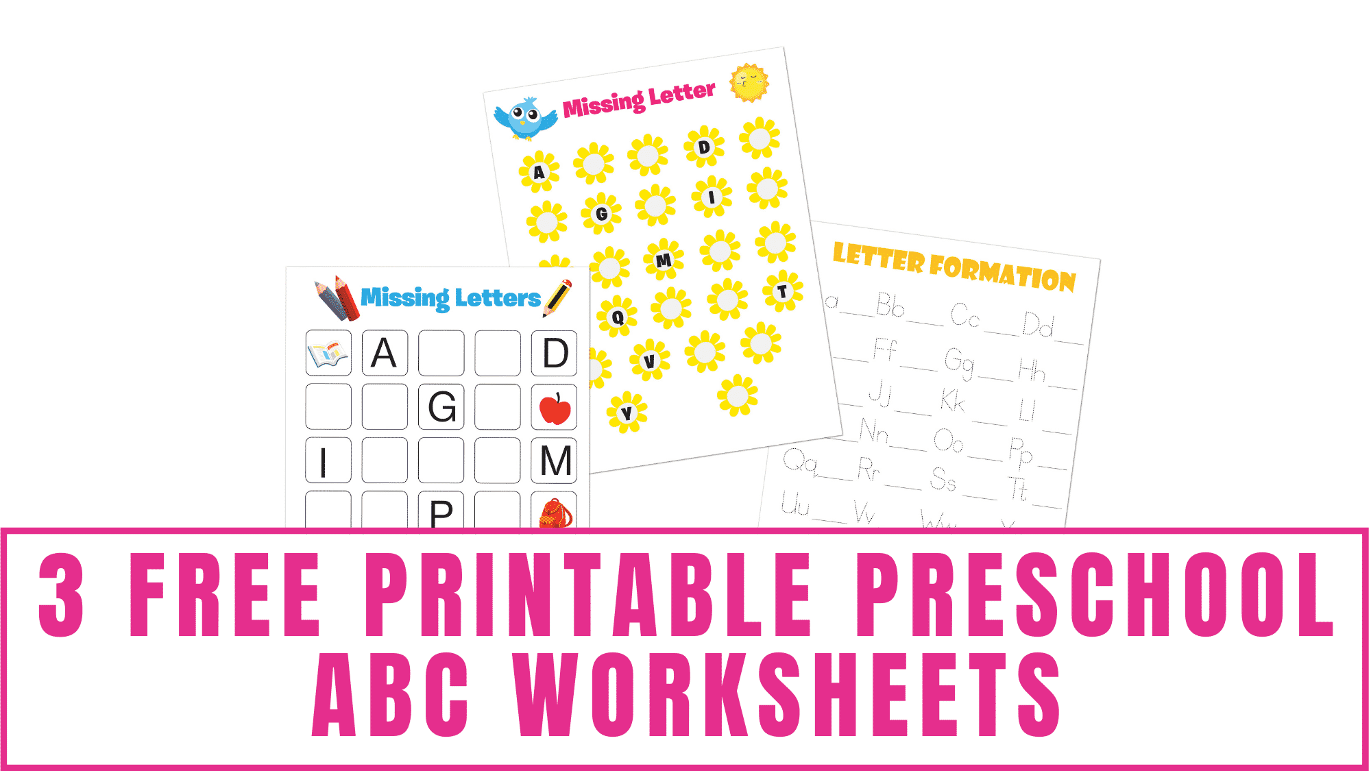 Help your kid learn how to write letters by using these free printable preschool ABC worksheets. Here they can work on letter tracing, writing letters, and letter recognition.