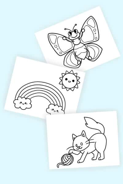 free printable simple coloring pages for adults kids