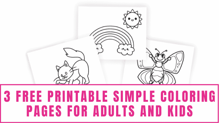 Need to destress? Try coloring. You can start with these free printable simple coloring pages for adults and kids. Sometimes a simple task like bringing a picture to life can lift your mood.