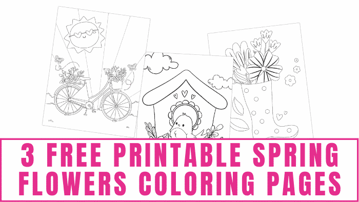 Ready for spring weather? Get in the mood by coloring these bright and cheery free printable spring flowers coloring pages.