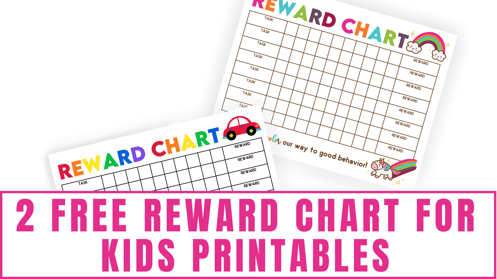 Make household chores more fun by using these free reward chart for kids printables.