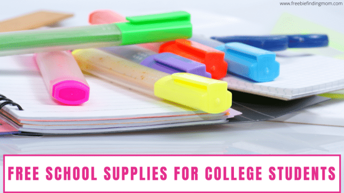 Whether you are a college student or a mom on a budget you'll enjoy discovering new ways to snag free school supplies for college students.