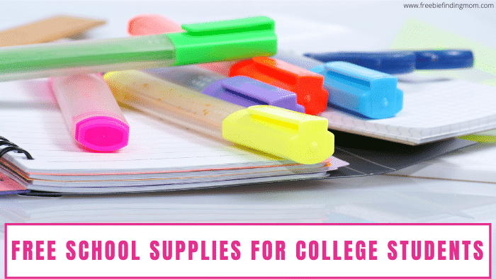 Are you or someone you know a college student on a budget? Use all the free resources you have to save money and snag free school supplies for college students.