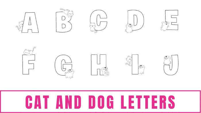This cute printable bubble letters cat dog letters alphabet can be used as coloring pages, to practice writing letters, in craft projects, to make banners and more!